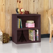 Way Basics Eco Friendly Webster 2 Shelf Bookcase Organizer And Storage Unit Espresso