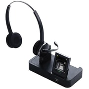 Jabra 946069707105 Duo Tri-Link Wireless On-Ear Headset Kit with Microphone, Black
