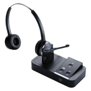 Jabra Pro 9465 Duo Tri-Link Wireless On-Ear Headset Kit with Microphone, Black