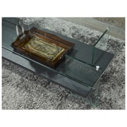 Brassex Coffee Table with Tempered Glass, Grey (CA127-GR)