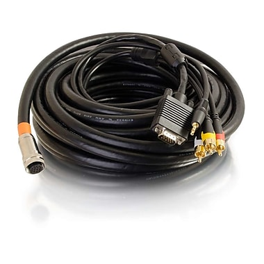 C2G 35 ft Rapidrun® Multi-Format All-In-One Runner Cable, In-Wall Cmg-Rated (60070)