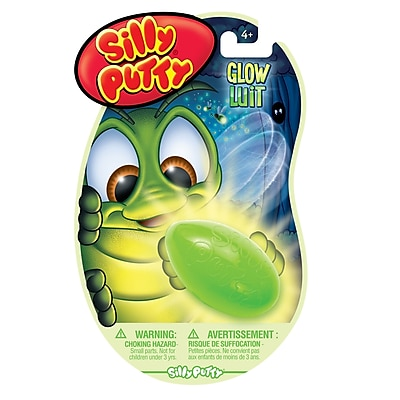Crayola Silly Putty Glow in the Dark, Assorted Neon Colors, Bundle of 16 (BIN080316)
