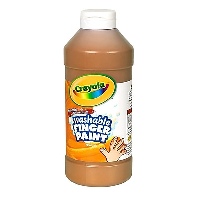 Crayola Washable Finger Paint Brown, 16 oz., Each (55-1316-007)