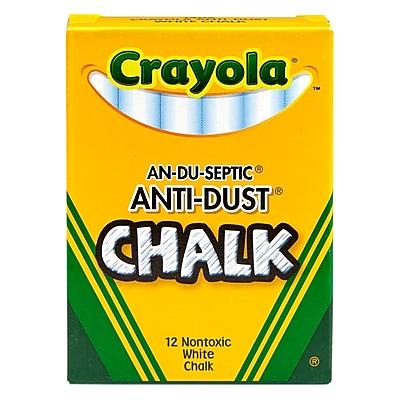 and Colored Chalk Bundle 3X Combo 12 ct Box Crayola Non-Toxic White Chalk 12 ct Box