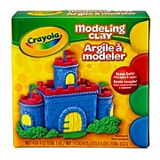 """Crayola Modeling Clay 4pcs Red, Blue, Grn, Yw, BIN300, 4.6"""" x 4.1"""". Sold as a set of 12."""