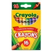 Crayola Crayons 16 Color Peggable, Assorted. Sold as a set of 8, each pack has 16 crayons for a total of 128 (BIN3016)