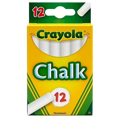 Crayola 12 Sticks- Tuck Box White Chalk (BIN320).Sold as a set of 36 packs. Each pack has 12 pieces of chalk for a total of 432