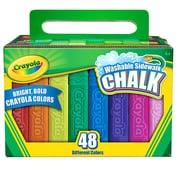 Crayola Washable Sidewalk Chalk, Assorted, 48 CT per box, 4 boxes per bundle, total 192 pieces (BIN512048)