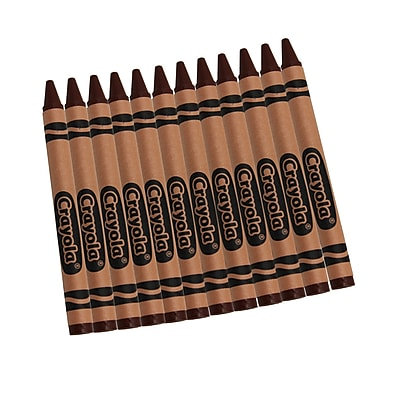 Crayola Bulk Crayons, Brown, 12/Box (52-0836-007)