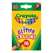 Crayola Glitter Crayons 16 Crayons, Asst. Sold as a set of 6, each box has 16 crayons for a total of 96 (BIN523716)