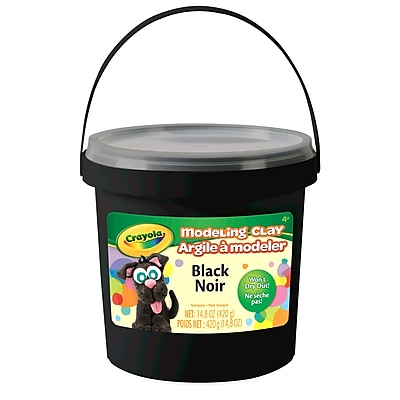 Educator's Resource Modeling Clay, 1 lb. Bucket, Black