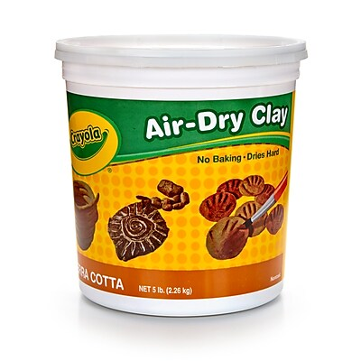 Crayola Air Dry Clay 5lb Tub Terra, BIN572004, 6