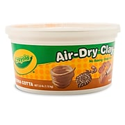 "Crayola Air Dry Clay 2.5lb Terra Cotta, BIN575064, 6"" x 6"". Sold as a set of 4"
