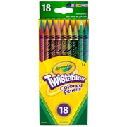 Crayola Twistables 18ct Colored Pencils, Assorted, Sold as a set of 3 packs, each pack has 18 color pencils(BIN687418)