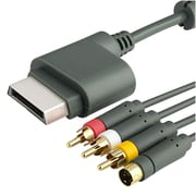Insten 6' AV Composite and S-Video Cable For Xbox 360, Grey (GMSTXBOXCAB3)