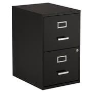2-Drawer Vertical Letter File Cabinet, Black (2DPF-TB)