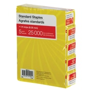 Staples® Standard Staples, 25000/Box