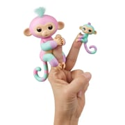 WOWWEE 3540 Fingerlings Big Monkey & Matching Baby Monkey Assorted x4 (3541/3542/3543/3544)