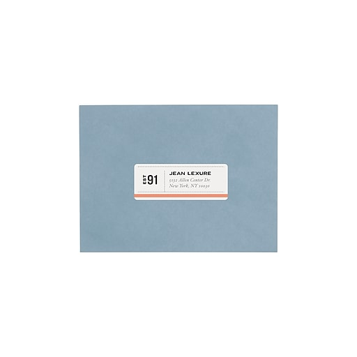 avery 1 x 2 5 8 5160 laser address labels with easy peel white