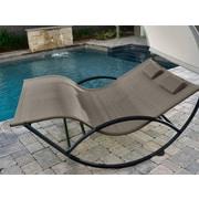 Vivere Aluminum Double Chaise Rocker Cocoa (CHAISRKAL-CO)