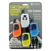 Altis Global SH130-4 Cobra 8-Mile Two Way Radio/Walkie Talkie, 4-Pack