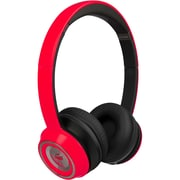 Monster 128598-00 Ncredible Ntune Candy On Ear Headphones, Cherry Red