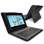 PureGear Universal 10-inch Folio with Removable Bluetooth Keyboard with Backlight, Black