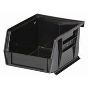 Bacs de rangement Stack & Hang recyclés, plastique, noir, 5 3/8 x 4 1/8 x 3 (po)