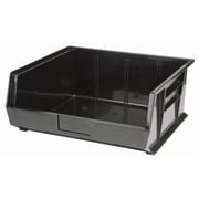 Bacs de rangement Stack & Hang recyclés, plastique, noir, 14 3/4  x 16 1/2 x 7 (po) (CF854)