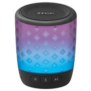 iHome iBT81BC Bluetooth Colour Speaker with Siri and Google Assistant, Black