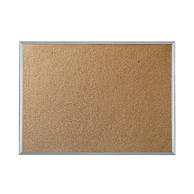 staples economy cork bulletin board aluminum frame 48 x 36
