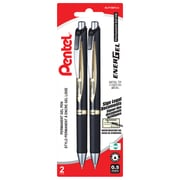 Pentel EnerGel Permanent Ink Pens, 0.5mm, 2/Pack