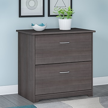 Bush Furniture Cabot Lateral File Cabinet, Heather Gray (WC31780)
