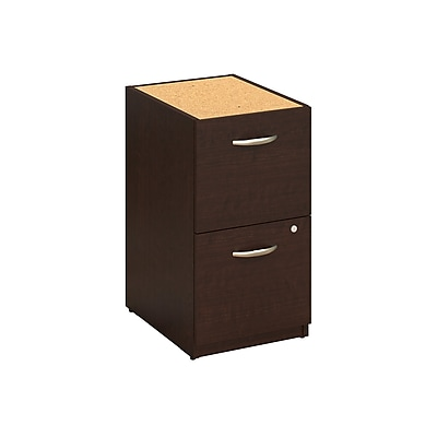 Bush Business Westfield Elite 16W 2-Drawer Pedestal, Mocha Cherry, Installed