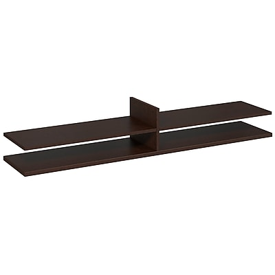 Bush Business Westfield Elite 72W x 15D Standing Table Desk Shelf Kit, Mocha Cherry, Installed