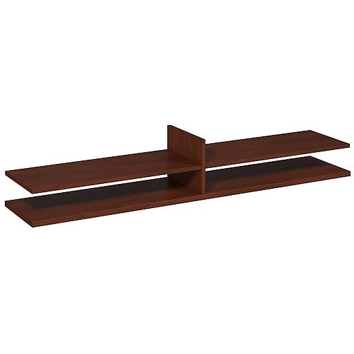 Bush Business Furniture Westfield Elite 72W x 15D Standing Desk Shelf Kit, Hansen Cherry, Installed (WC24580FA)