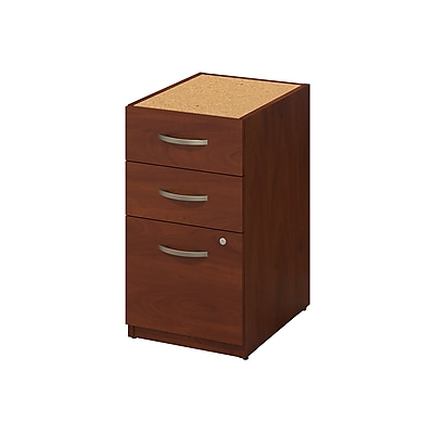 Bush Business Furniture Westfield Elite 16W 3 Drawer Pedestal, Hansen Cherry (WC24555)
