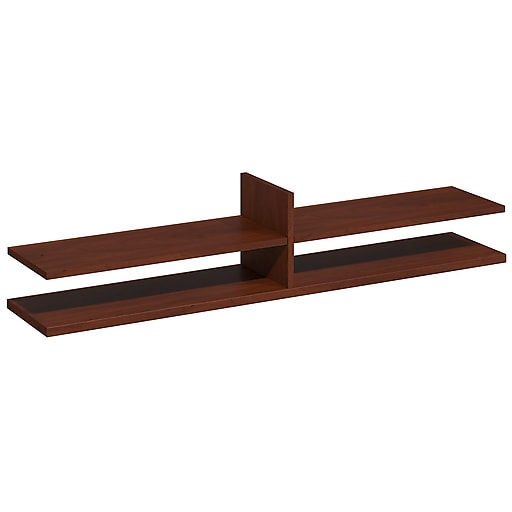 Bush Business Furniture Westfield Elite 60W x 12D Standing Desk Shelf Kit, Hansen Cherry, Installed (WC24516FA)