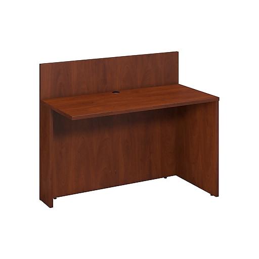 Bush Business Furniture Westfield 48W x 24D Privacy Return Bridge, Hansen Cherry (WC24508)