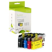 Fuzion Brother LC103 New Compatible High Yield Inkjet Cartridge Set, CMYK, 4/Pack (LC1033PKS)