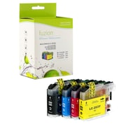 Fuzion Brother LC203 New Compatible High Yield Inkjet Cartridge Set, CMYK, 4/Pack (LC2033PKS)