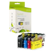 Fuzion Brother LC61 New Compatible High Yield Inkjet Cartridge Set, CMYK, 4/Pack (LC613PKS)