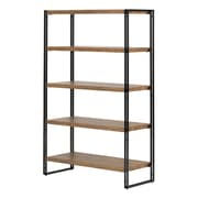 South Shore Gimetri 5 Fixed Shelves Shelving Unit, Rustic Bamboo (11521)