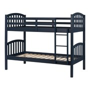 South Shore Summer Breeze Solid Wood Bunk Beds, Navy Blue (11820)