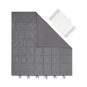 South Shore Lodge Grey Quilted Comforter With Pillow Shams, Full (100247)
