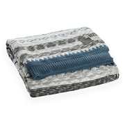 South Shore Lodge Blue And Grey Patterned Throw Blanket (100251)