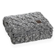 South Shore Lodge Grey Cable-Knit Throw Blanket (100252)