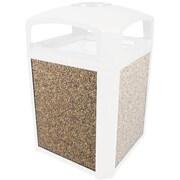Rubbermaid – Panneau unique en granulat pour contenant de 45 gallons de la gamme Landmark Series® (FG400400ROCK)