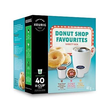 Donut Shop – Cafés Favoris de la beignerie, boîte variée, capsules K-Cup, paq./40 (98-09740 )