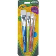 Crayola Flat Paint Brushes, 4/Pack